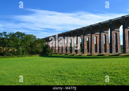 Railway Viaduct, Haywards Heath, West Sussex, UK - Stock Photo