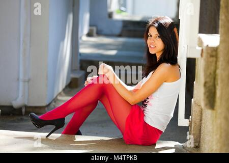 Young woman legs spike spiked heels images alpfabet Stock Photo