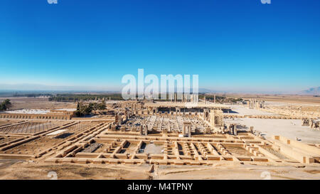 Persepolis, 'city of Persians', Built by Xerxes, ceremonial capital of Achaemenid Empire.  Persepolis is situated - Stock Photo