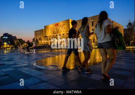 National Historical Museum in Tirana, Albania - Stock Photo
