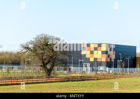 The WCDC (West Cambridge data centre) at the west Cambridge site of the university in the town of Cambridge, England. - Stock Photo