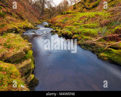 Goyt Valley, one of the most beautiful areas of the Peak District National Park lying between Buxton and Whaley - Stock Photo