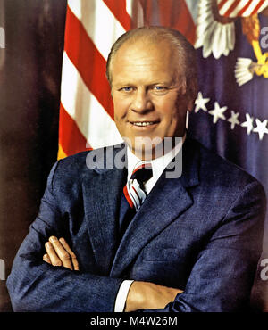 GERALD FORD (1913-2006) as 38th President of the United States on 27 Augusat 1974. Photo: David Kennedy - Stock Photo