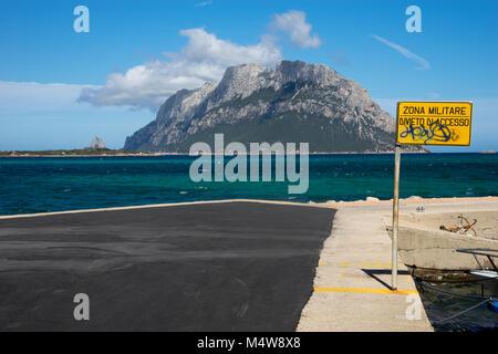 View to the Bay of Isola Tavolara, Sadegna - Stock Photo