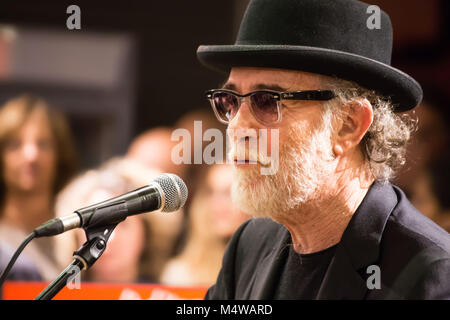 GENOA (GENOA), ITALY, MARCH 26, 2016 - Francesco De Gregori in concert in Genoa, Italy,  one the most famous italian - Stock Photo