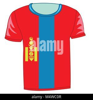 T-shirt flag Mongolia - Stock Photo