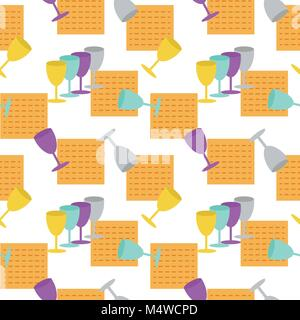 Passover seamless pattern background - Stock Photo