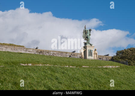 Royal Marines Memorial on Plymouth Hoe - Stock Photo