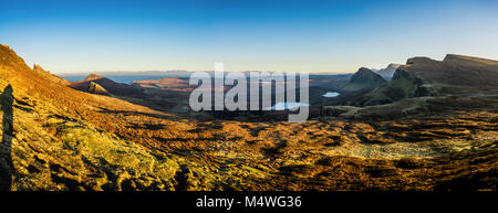 The Quiraing and Trotternish Ridge, Isle of Skye - Stock Photo