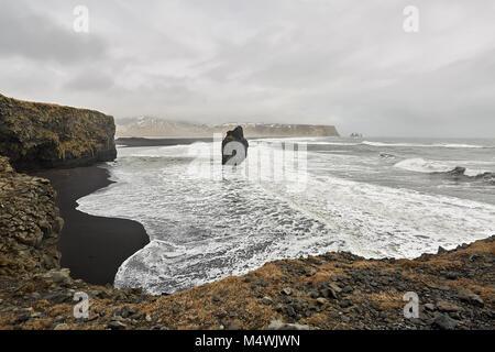 Icelandic landscape of seashore - Stock Photo