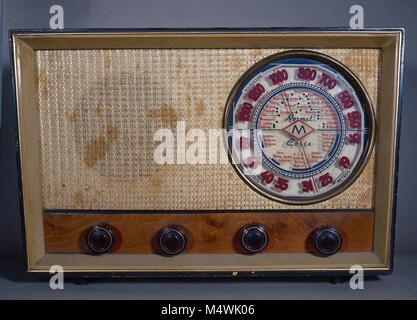Old radio receiver. - Stock Photo