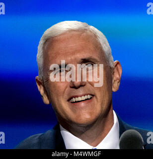 Cleveland Ohio, USA, 20th July, 2016. Republican Governor and now VIce-Presidential candidate Michael 'Mike' Pence - Stock Photo