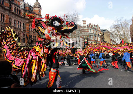 Chinese New Year Celebrations in London 2018 Credit: Alex Cavendish/Alamy Live News - Stock Photo