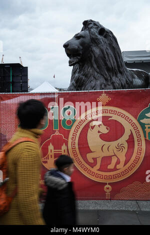 Chinese New Year celebrations in Trafalgar Square in London. Photo date: Sunday, February 18, 2018. Photo: Roger - Stock Photo