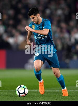 The player Marco Asensio of the Real Madrid during the football match belonging to League Santander; facing the - Stock Photo