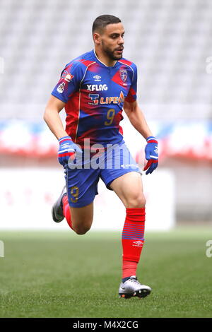 Tokyo, Japan. 17th Feb, 2018. Diego Oliveira (FC Tokyo), February 17, 2018 - Football /Soccer : 2018 J.League Pre - Stock Photo