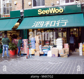 Colour Photograph of SeeWoo Chinese food store, Soho, London, England, UK. Credit: London Snapper - Stock Photo