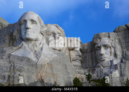 Mount Rushmore National Monument American Presidents - Stock Photo