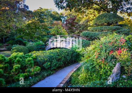 Texas Fort Worth Botanic Garden Native Forest Boardwalk sign Stock ...