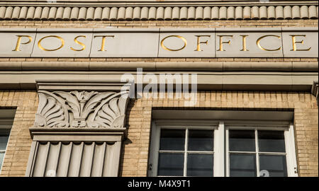 The historic United States Post Office in downtown Bend Oregon - Stock Photo