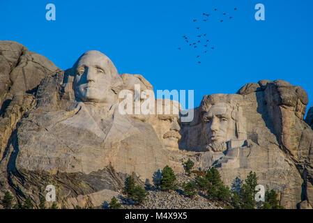 Mount Rushmore near Rapid City in South Dakota - Stock Photo