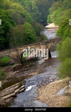 Bridge over the River Swale, Richmond, North Yorkshire - Stock Photo