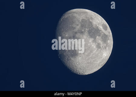 waxing moon in the evening - Stock Photo