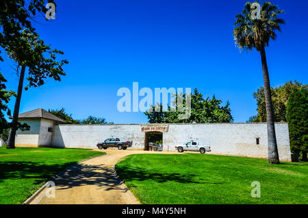 Sutter's Fort Historical Site, a 19th-century agricultural and trade colony in the Mexican Alta California province, - Stock Photo