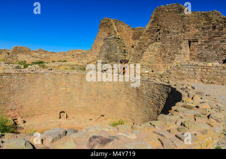 Ancient ruins of Pueblo Indians Great House. - Stock Photo