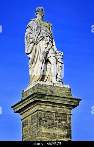 Admiral Lord Collingwood hero of Trafalgar at Tynemouth North Shields - Stock Photo