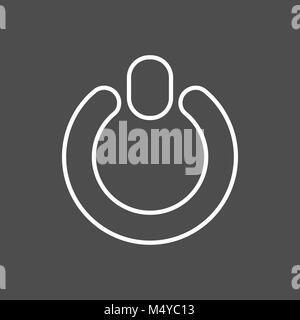 power button icon. flat design line - Stock Photo