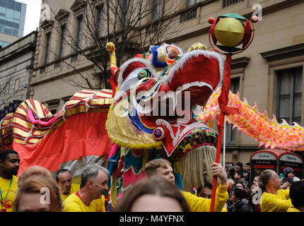 Chinese New Year 2018, Year of the Dog, Festival in Manchester, UK - Stock Photo