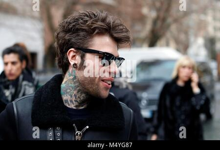 Federico Leonardo Lucia known for his stage name Fedez, an Italian rapper and singer. Rome, Italy, Jan 16, 2018 - Stock Photo