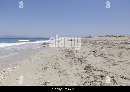 Quiet beach in Lefkada Greece - Stock Photo