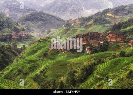 longji rice terrace - Stock Photo