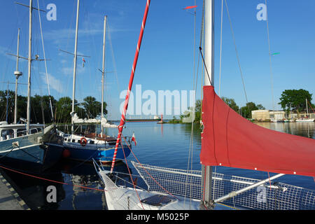 The  West Pomeranian Sailing Route, Trzebiez, - Stock Photo