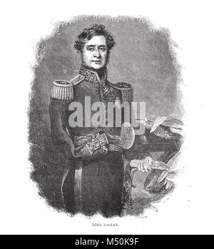 Field Marshal FitzRoy Somerset, 1st Baron Raglan, 1854, commander of the British troops sent to the Crimea in 1854 - Stock Photo