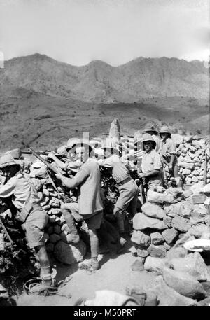 British Army Camp in Pakistan, circa 1919 during the third Afghan War - Stock Photo