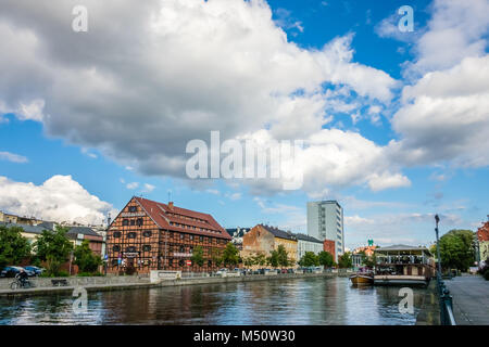 River Brda and historical buildings in Bydgoszcz - Stock Photo