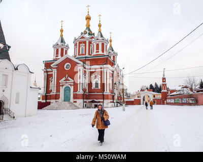 Woman wolk in Kolomna Kremlin - Stock Photo