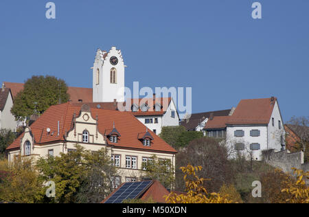Aach in the region Hegau, Baden-Württemberg - Stock Photo