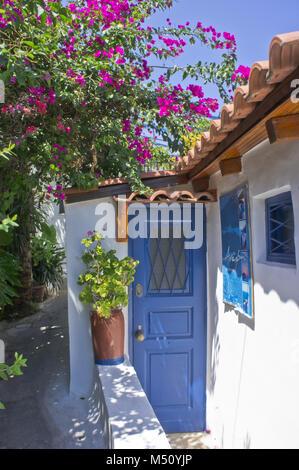 Acropolis, Athens, Greece, Plaka neighborhood street view - Stock Photo