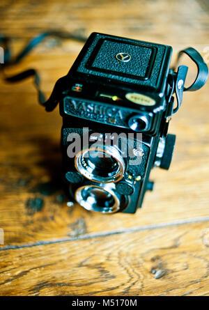 Film Camera 120 roll Yashicamat 124G camera - Stock Photo