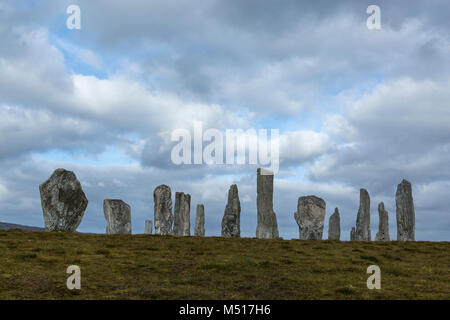 The Callanish Standing Stones, Isle of Lewis, Outer Hebrides, Scotland - Stock Photo
