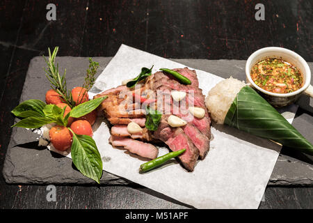 Grilled pork - Stock Photo