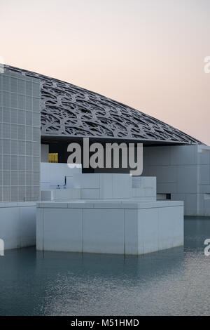 Close-up of Louvre Abu Dhabi Dome -  The Louvre Abu Dhabi was initiated as a result of an Emirati request and was - Stock Photo