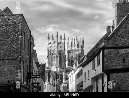 The Magnificent Minster of York City, North Yorkshire, England - Stock Photo