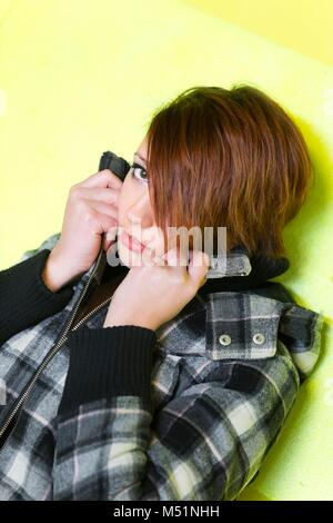 Şhy teen girl - Stock Photo