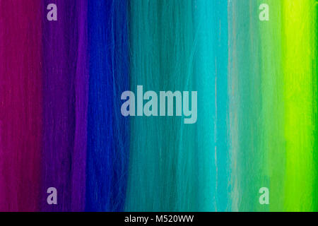 Close up of colorful textile threads pattern - Stock Photo