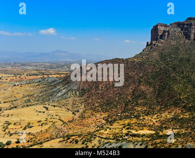 Great African Rift Valley,northern foothills in the Gheralta Mountains,near Hawzien,Tigray,Ethiopia - Stock Photo